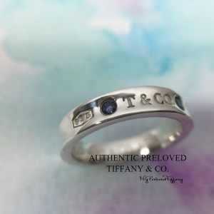 Pre-owned Tiffany & Co. 1837 Montana Blue Sapphire Silver Ring #5