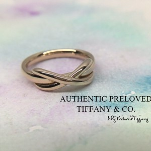 Pre-owned Tiffany & Co. Infinity Rose Gold 750 Ring