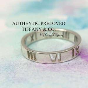 Pre-owned Tiffany & Co. Pierced Atlas Cutout Silver Ring