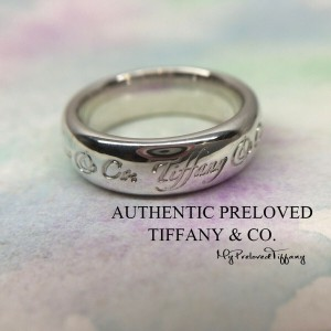 Pre-owned Tiffany & Co. Notes Wide Ring Silver #6