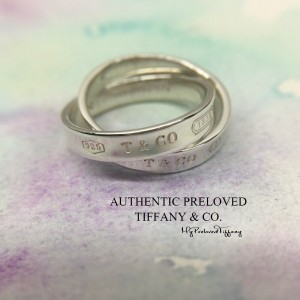 Pre-owned Tiffany & Co. 1837 Interlocking Ring Silver #5