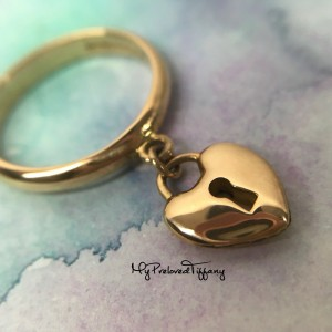 Pre-owned Tiffany & Co. Mini Heart Lock Ring Rose Gold 750 #6